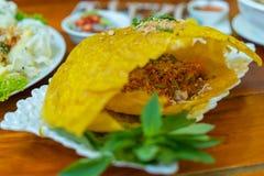 Βιετναμέζικος αλμυρός Crepe στοκ εικόνες με δικαίωμα ελεύθερης χρήσης