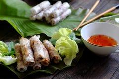 Βιετναμέζικος ρόλος αυγών Στοκ Φωτογραφίες