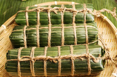 Βιετναμέζικο παραδοσιακό κέικ ρυζιού για να γιορτάσει το σεληνιακό νέο έτος Στοκ φωτογραφία με δικαίωμα ελεύθερης χρήσης