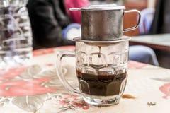 Βιετναμέζικο στάλαγμα καφέ στοκ εικόνα