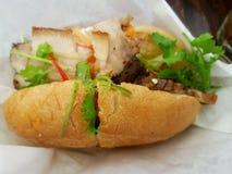 Βιετναμέζικο baguette κοιλιών χοιρινού κρέατος Στοκ Εικόνες