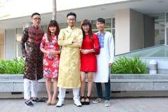 Βιετναμέζικο dai AO Στοκ φωτογραφίες με δικαίωμα ελεύθερης χρήσης
