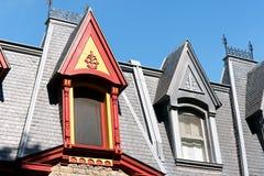 Βικτοριανά σπίτια στο Μόντρεαλ, Καναδάς Στοκ φωτογραφία με δικαίωμα ελεύθερης χρήσης