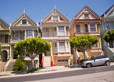 Βικτοριανά σπίτια του Σαν Φρανσίσκο Στοκ Φωτογραφία