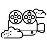 Βιντεοκάμερα r Εικονίδιο καμερών διανυσματική απεικόνιση