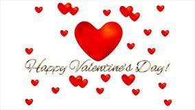 Βιντεοκλίπ καρδιών βαλεντίνων απόθεμα βίντεο