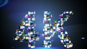 Βιντεοκλίπ που διαμορφώνουν 4k το μήνυμα ελεύθερη απεικόνιση δικαιώματος