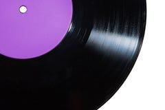 Βινυλίου δίσκος με την πορφυρή ετικέτα Στοκ φωτογραφία με δικαίωμα ελεύθερης χρήσης