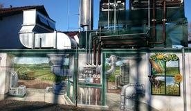βιοαέριο γκράφιτι Στοκ φωτογραφία με δικαίωμα ελεύθερης χρήσης