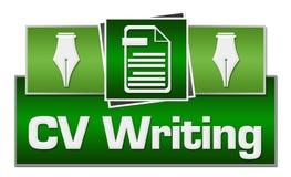 Βιογραφικό σημείωμα που γράφει τα πράσινα τετράγωνα στην κορυφή ελεύθερη απεικόνιση δικαιώματος