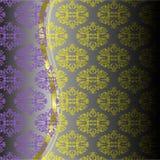 βιολέτα προτύπων κίτρινη ελεύθερη απεικόνιση δικαιώματος