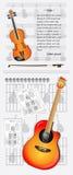 βιολί κιθάρων Στοκ φωτογραφία με δικαίωμα ελεύθερης χρήσης
