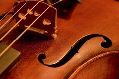 βιολί λεπτομέρειας Στοκ Εικόνες