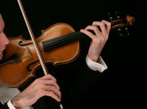 βιολί μουσικών Στοκ εικόνες με δικαίωμα ελεύθερης χρήσης