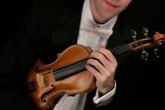βιολί μουσικών Στοκ Εικόνα