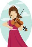 Βιολί παιχνιδιού κοριτσιών Στοκ φωτογραφία με δικαίωμα ελεύθερης χρήσης
