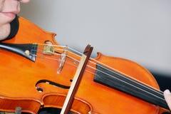 βιολί παιχνιδιού Στοκ Φωτογραφίες