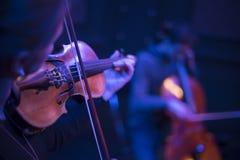 Βιολί σε μια συναυλία στοκ φωτογραφία