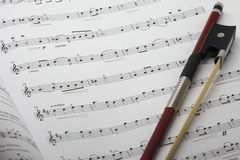 βιολί φύλλων μουσικής Στοκ Εικόνα