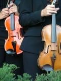 βιολιστές Στοκ Εικόνες