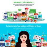 Βιολογικά ενεργά εμβλήματα πρόσθετων ουσιών απεικόνιση αποθεμάτων