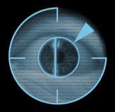 βιομετρικός αμφιβληστροειδικός σαρωτής ματιών Στοκ Εικόνες