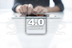 βιομηχανία 4 Έξυπνη έννοια κατασκευής 4 βιομηχανικά υποδομή 0 διαδικασίας Στοκ φωτογραφία με δικαίωμα ελεύθερης χρήσης