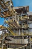 Βιομηχανία εργοστασίων καλάμων ζάχαρης Στοκ Φωτογραφία
