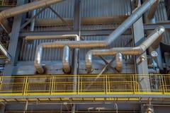 Βιομηχανία εργοστασίων καλάμων ζάχαρης Στοκ Φωτογραφίες