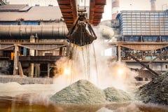 Βιομηχανία εργοστασίων χάλυβα Στοκ εικόνα με δικαίωμα ελεύθερης χρήσης