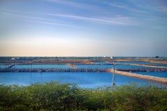 βιομηχανία της καλλιέργειας ψαριών στην Ασία Στοκ φωτογραφίες με δικαίωμα ελεύθερης χρήσης