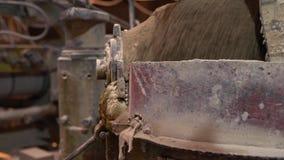Βιομηχανία τούβλου Άποψη της διαδικασίας παραγωγής απόθεμα βίντεο