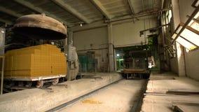 Βιομηχανία τούβλου Άποψη του εργαστηρίου παραγωγής απόθεμα βίντεο