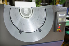 Βιομηχανία τυπωμένων υλών, υπολογιστής στο τύμπανο πιάτων (ΚΠΜ (Κοινή Πολιτική Μεταφορών)) για την ανάπτυξη πιάτων λέιζερ Στοκ Εικόνες