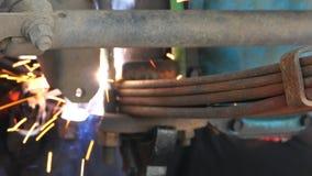 Βιομηχανία υπηρεσιών επισκευής αυτοκινήτων απόθεμα βίντεο