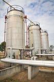 Βιομηχανίες του καθαρισμού πετρελαίου και του αερίου Στοκ Εικόνες