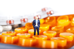 βιομηχανίες pils φαρμάκων Στοκ Φωτογραφία