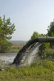 βιομηχανικά απόβλητα απαλλαγής Στοκ φωτογραφία με δικαίωμα ελεύθερης χρήσης