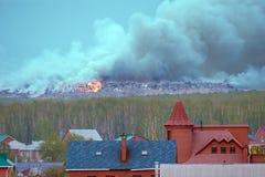 βιομηχανικά απόβλητα πυρκαγιάς Στοκ φωτογραφία με δικαίωμα ελεύθερης χρήσης