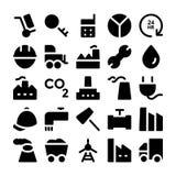 Βιομηχανικά διανυσματικά εικονίδια 8 Στοκ Φωτογραφίες