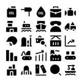Βιομηχανικά διανυσματικά εικονίδια 3 Στοκ Εικόνα