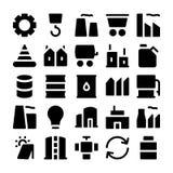 Βιομηχανικά διανυσματικά εικονίδια 1 Στοκ Εικόνα
