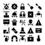 Βιομηχανικά διανυσματικά εικονίδια 6 Στοκ Εικόνα