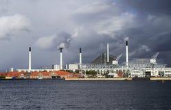 Βιομηχανικά κτήρια στην Κοπεγχάγη, Δανία Στοκ φωτογραφία με δικαίωμα ελεύθερης χρήσης