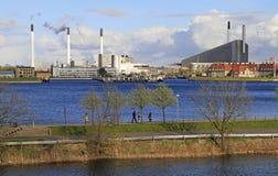 Βιομηχανικά κτήρια στην Κοπεγχάγη, Δανία Στοκ Εικόνες