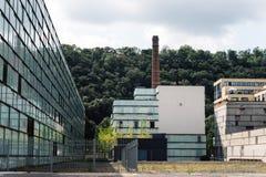 Βιομηχανικά κτήρια στην Πράγα Στοκ Εικόνες