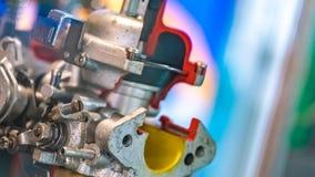 Βιομηχανικά μέρη μηχανών για την κατασκευή της γραμμής στοκ φωτογραφίες