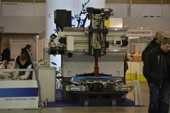Βιομηχανικά μηχανήματα, βιομηχανικός εξοπλισμός, βιομηχανικά εγκαταστάσεις και εργαλεία μηχανών, τόρνοι μηχανημάτων στοκ εικόνα με δικαίωμα ελεύθερης χρήσης