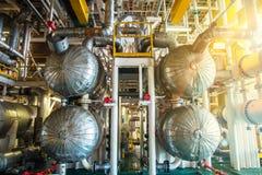 Βιομηχανικά πετρέλαιο και φυσικό αέριο Στοκ Εικόνες