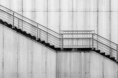 βιομηχανικά σκαλοπάτια Στοκ Φωτογραφίες